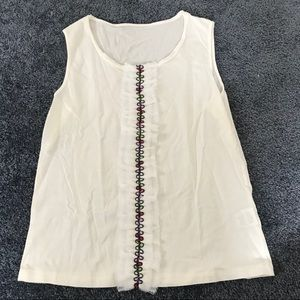 Tops - White detailed top